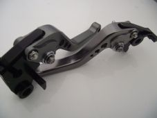 Honda CB919 CNC levers short titanium & chrome adjusters 2002-2007, F18/H626